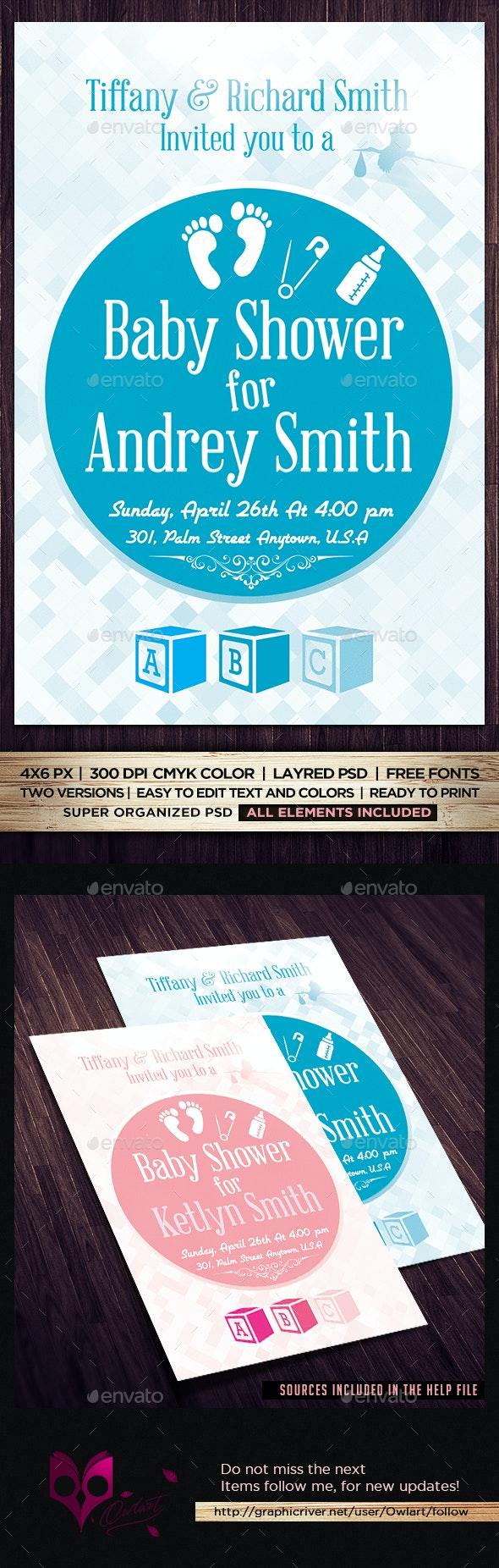 Baby Shower Invitatin Flyer - Flyers Print Templates