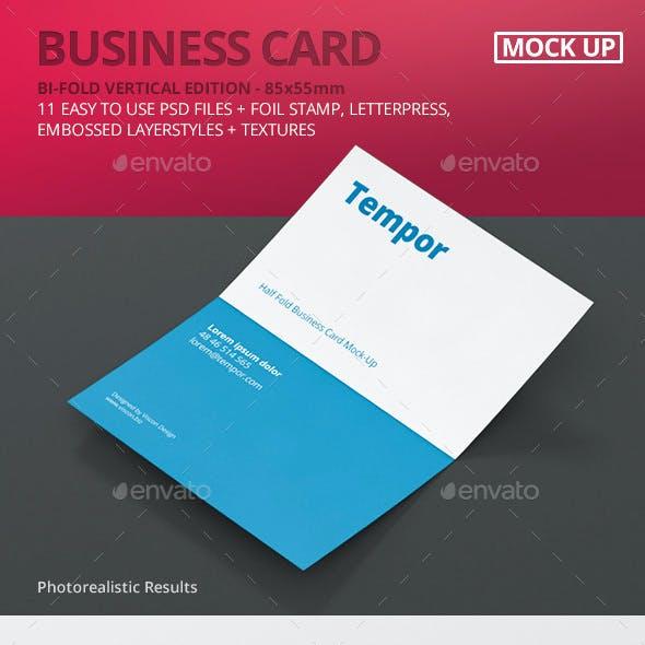 Folded Business Card Mockup