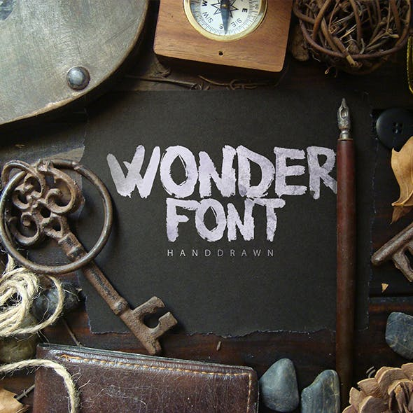 Woderfont Brush Typeface