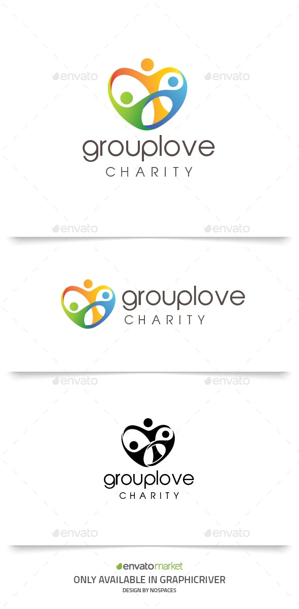 Group Love - Humans Logo Templates