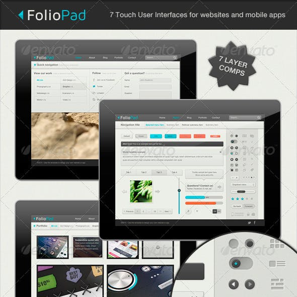 FolioPad Touch Elements - User Interface