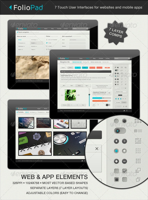 FolioPad Touch Elements - User Interface  - User Interfaces Web Elements