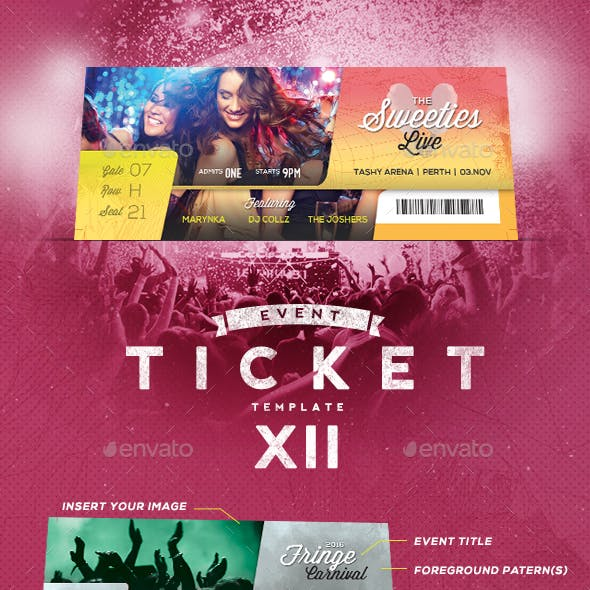 Event Tickets Template XII