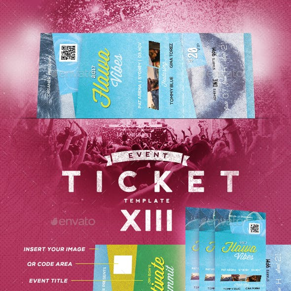 Event Tickets Template XIII