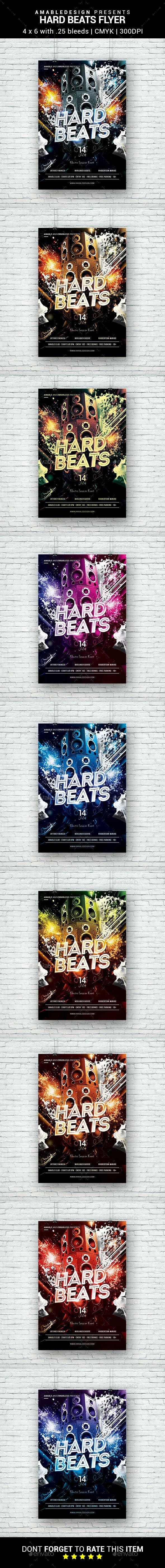Hard Beats Flyer - Clubs & Parties Events