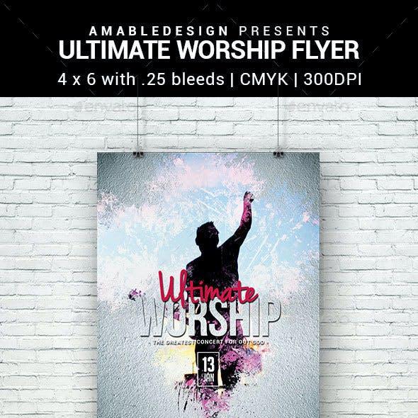 Ultimate Worship Flyer