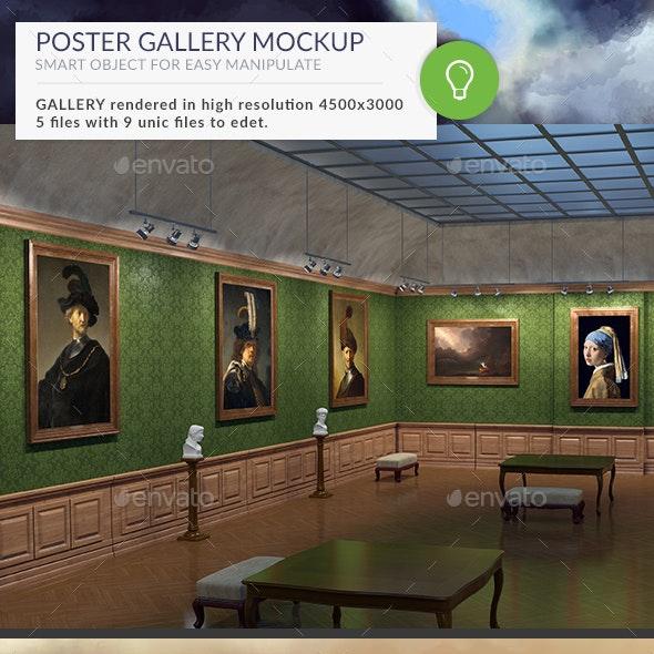 Gallery Mockups Old Paintings HD - Posters Print