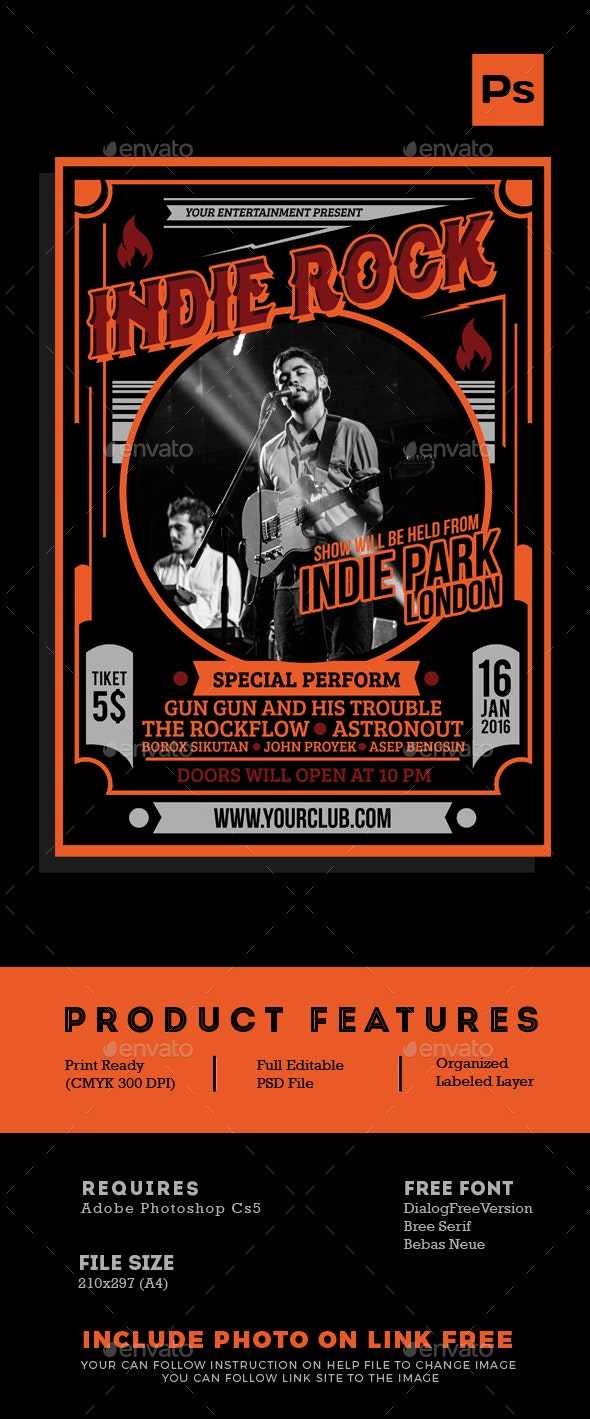 Indie Rock Flyer Tamplate - Events Flyers