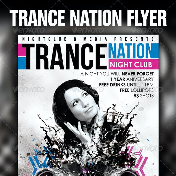 Trance Flyer Template