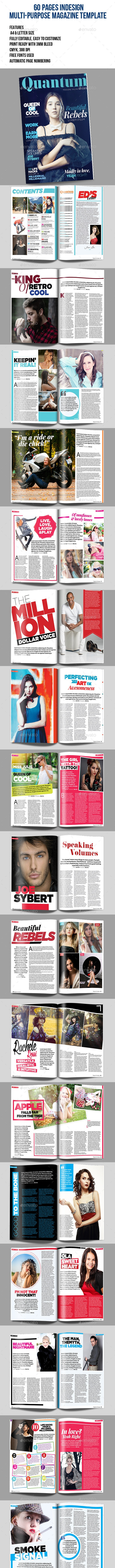 Indesign Magazine Template - Print Templates