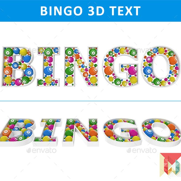 Bingo 3D Text with Bingo Balls