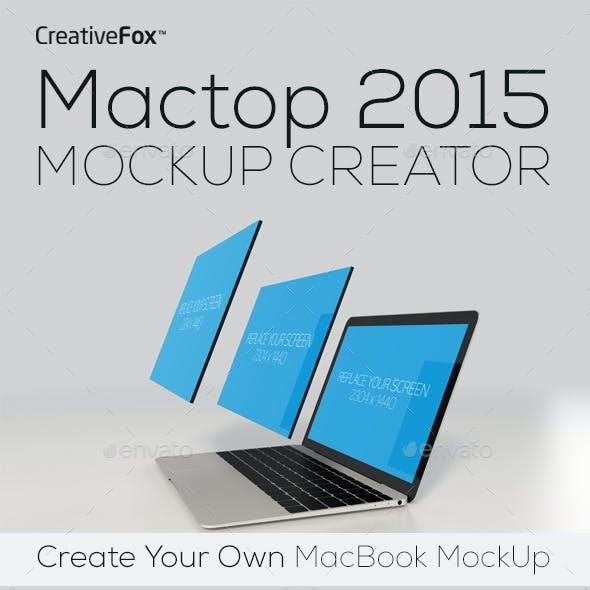 Mactop 2015 Mockup Creator - Laptop Mockup
