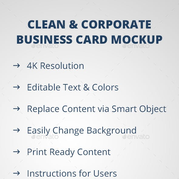 Corporate Bussines Card Mockup