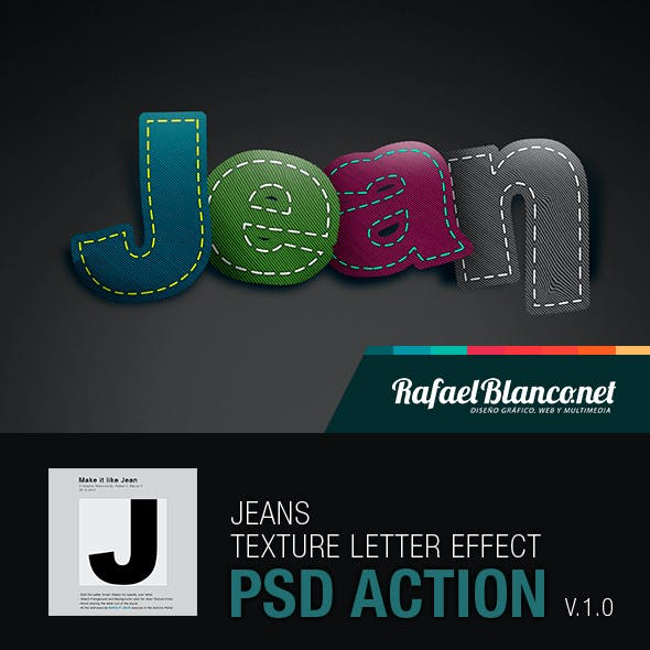 Jeans Styled Letter Effect