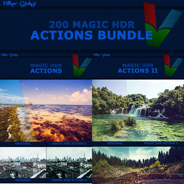 200 Magic HDR Actions Bundle