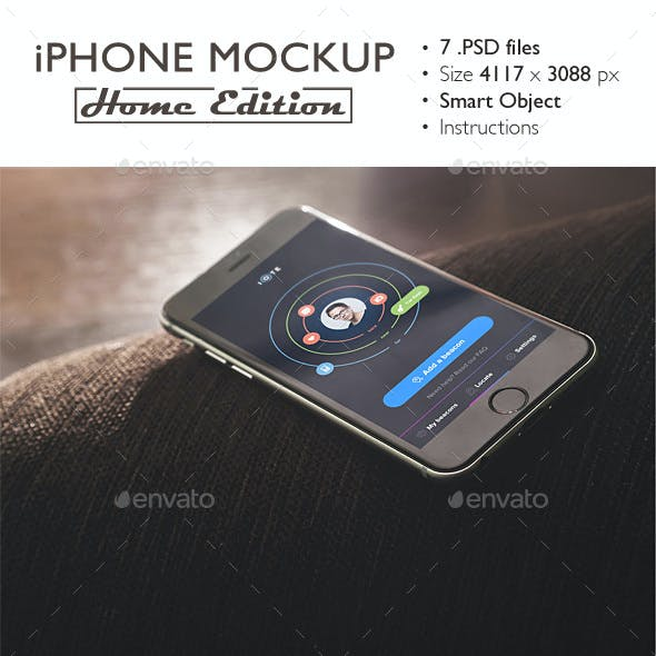 iPhone 6 Mockup Home Edition