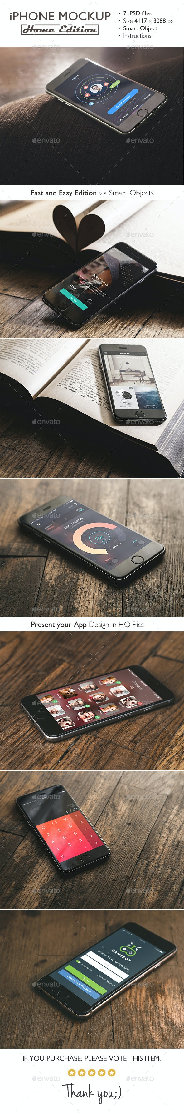 iPhone 6 Mockup Home Edition - Product Mock-Ups Graphics