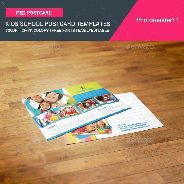 Kids School Postcard Templates