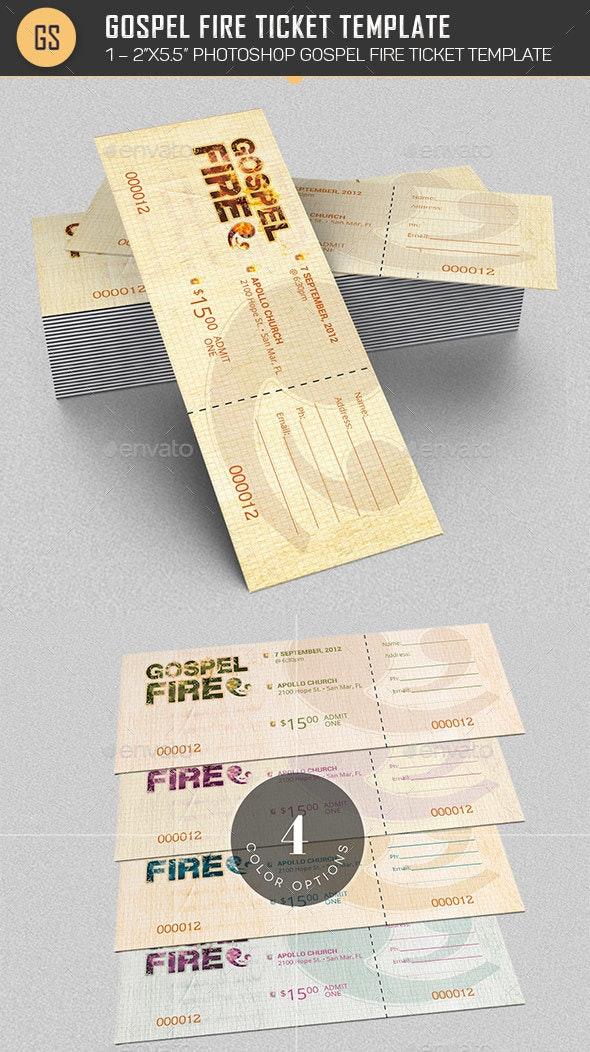 Gospel Fire Ticket Template