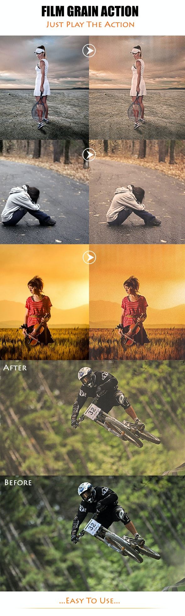 Film Grain Action - Photoshop Add-ons