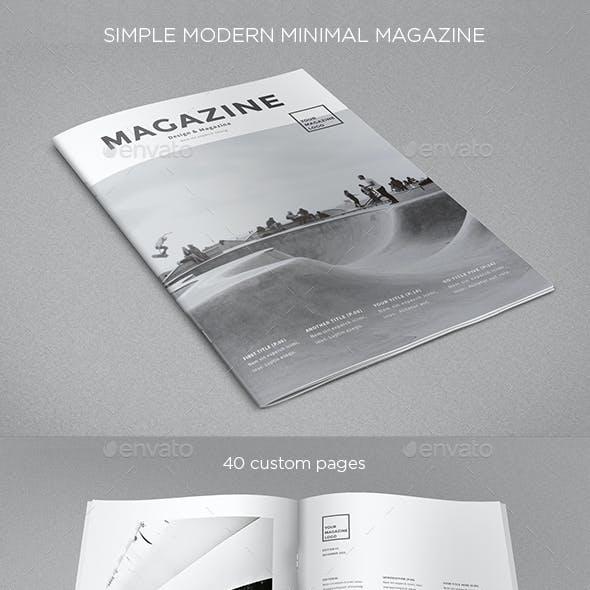 Simple Minimal Clean Magazine