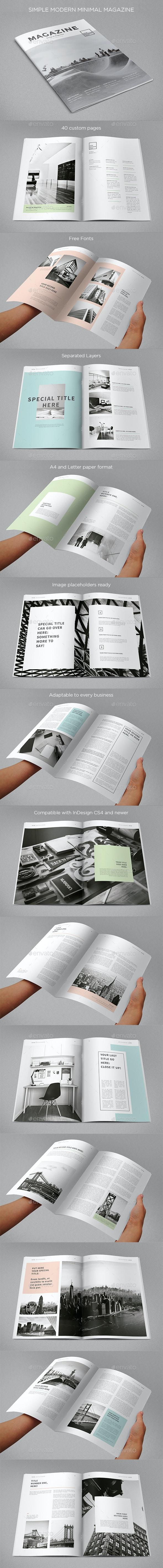 Simple Minimal Clean Magazine - Magazines Print Templates
