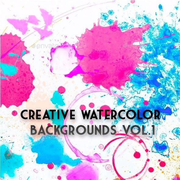 Creative Watercolor Backgrounds Vol.1