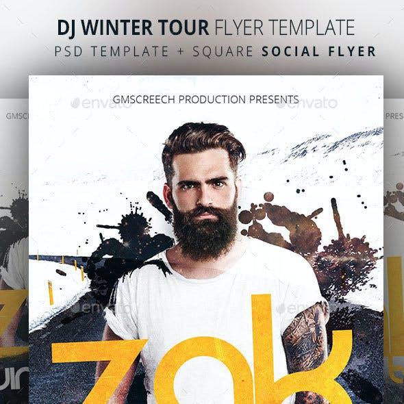DJ Winter Tour Dates Flyer Template