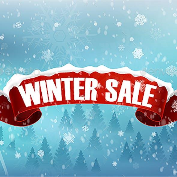 Winter Sales Badge