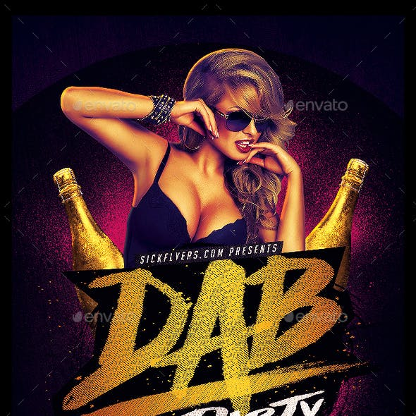 Dab Party Flyer PSD