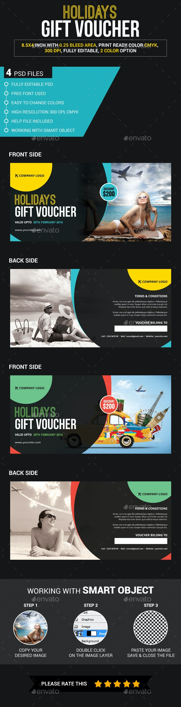 Travel Gift Voucher - Loyalty Cards Cards & Invites