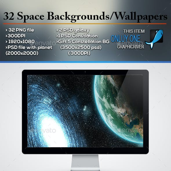 32 Space Backgrounds/Wallpapers