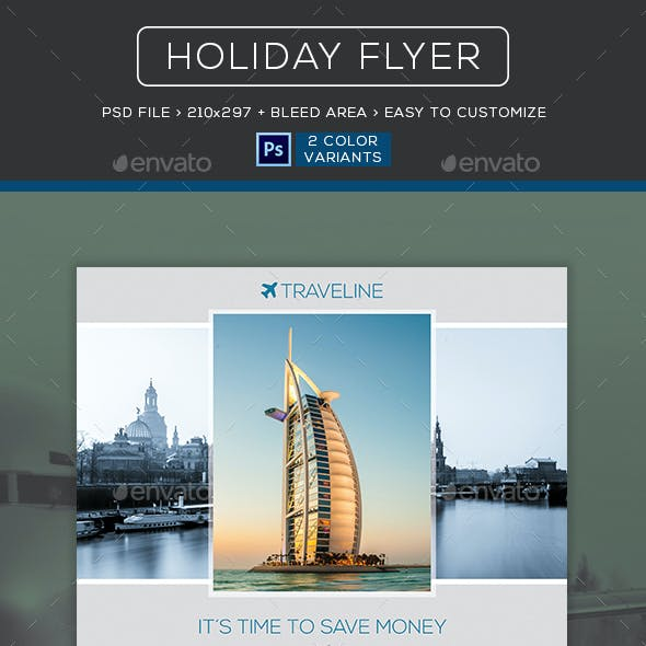 Holiday Travel Vacation Flyer