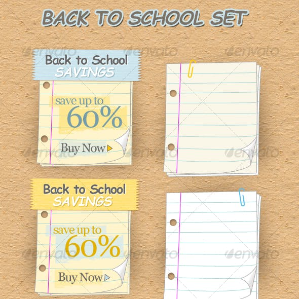 Back to School Web Elements