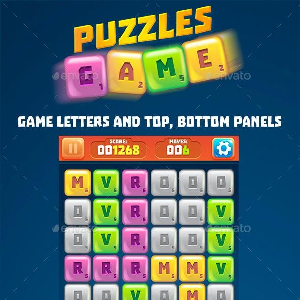 Letter Tiles Puzzle Game Set