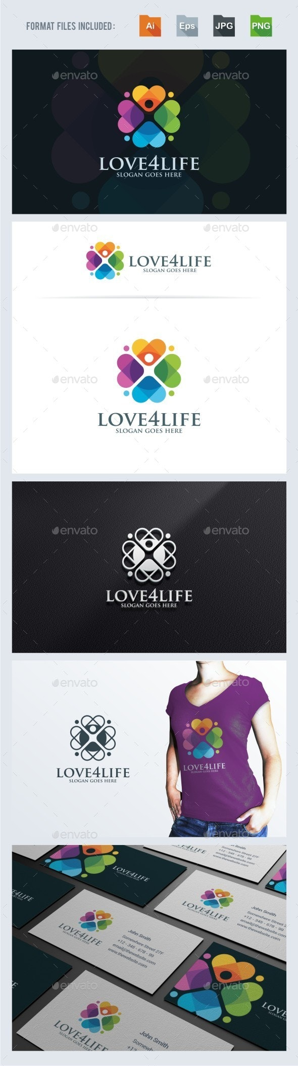 Love For Life Logo Template