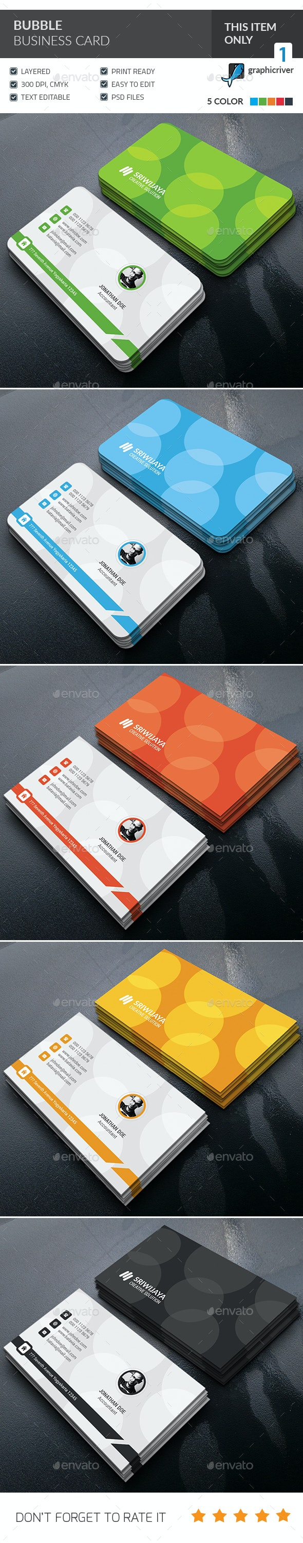 Bubble Business Card - Corporate Business Cards