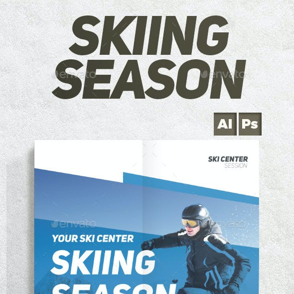 Skiing Season Flyer