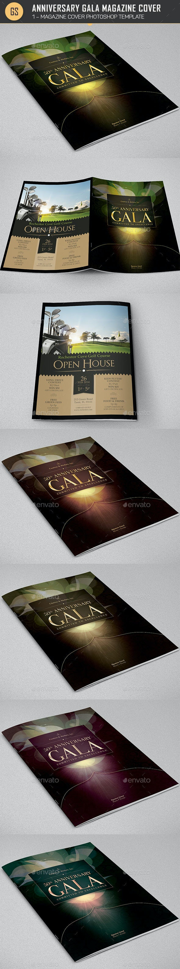 Anniversary Gala Magazine Cover Template - Magazines Print Templates