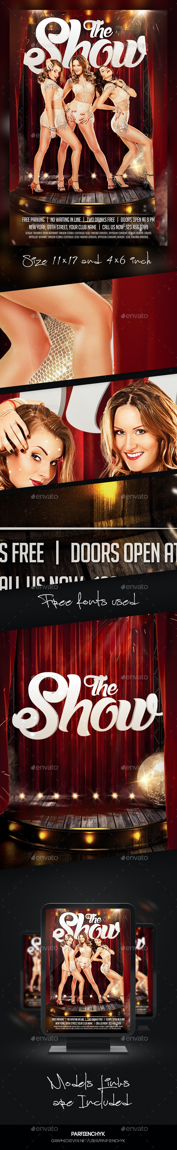 The Show Flyer Template - Clubs & Parties Events