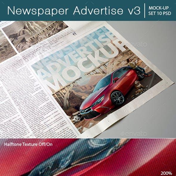 Newspaper Advertise Mockup v3
