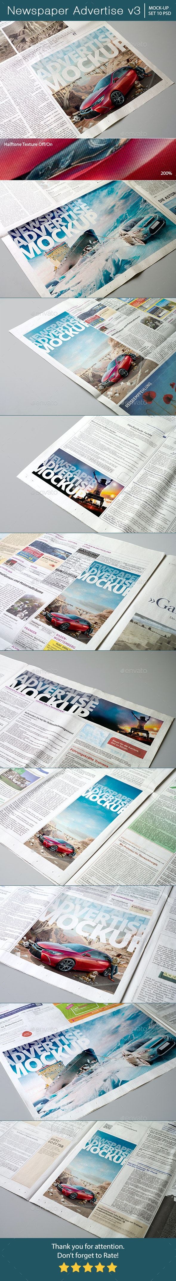 Newspaper Advertise Mockup v3 - Miscellaneous Print