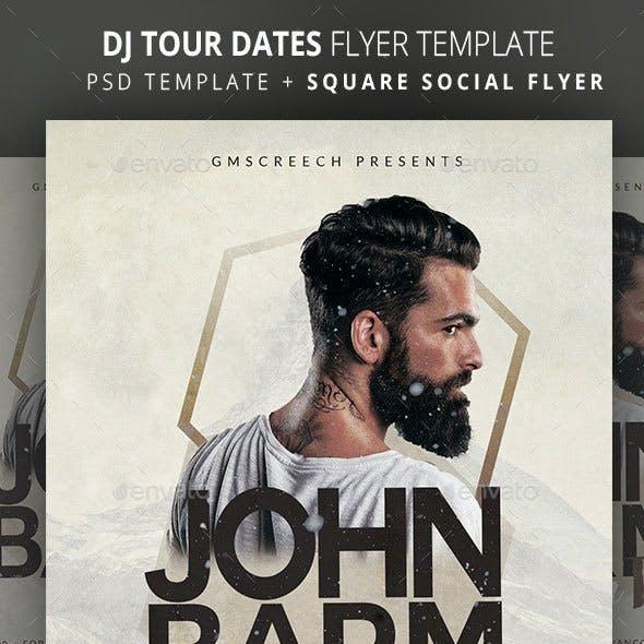 DJ Winter Tour Dates 2 Flyer Template