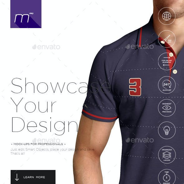 Polo Shirt on Model Mock-up