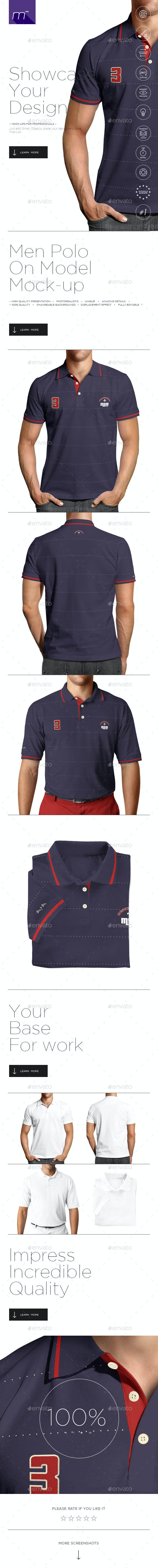 Polo Shirt on Model Mock-up - Miscellaneous Apparel