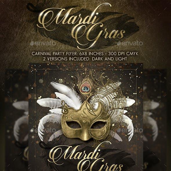 Mardi Gras Masquerade Ball Flyer