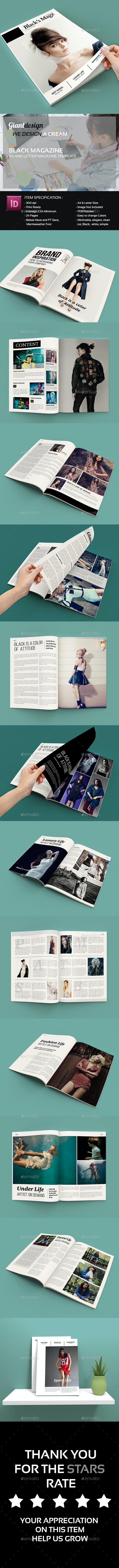 Black Magazine - Magazines Print Templates