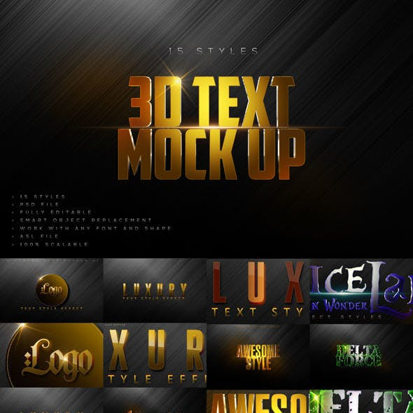 Luxury Text Styles V4