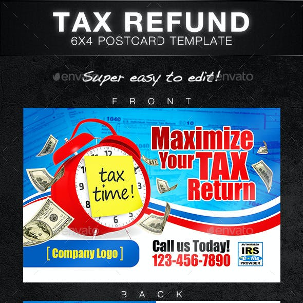 Tax Return Postcard Template