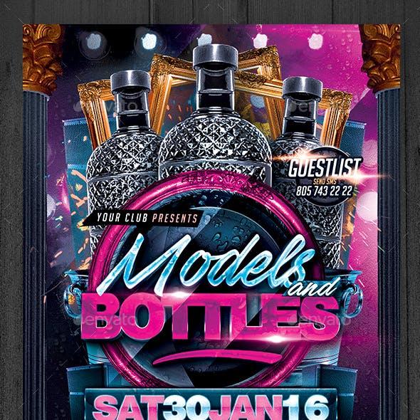 Models and Bottles Flyer